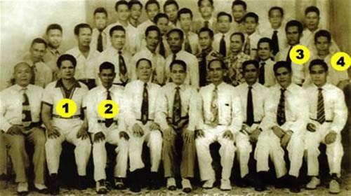 Original Balintawak Club (Circa 1952) 1.) Delfin Lopez  2.) Venancio Bacon  3.) Timoteo Maranga  4.) Vincente Atillo